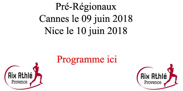 Pré Régionaux 2018 solliloquy